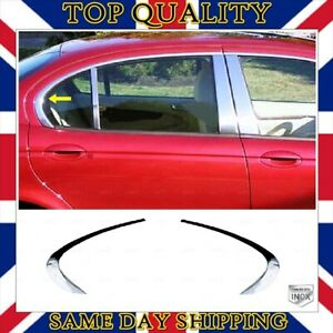Chrome Rear Quarter Window Trim 2 pcs For Jaguar X-TYPE Saloon 2001-2009