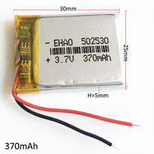 3.7V 370mAh 502530 Lipo Polymer Rechargeable Battery For MP3 MID bluetooth DVD