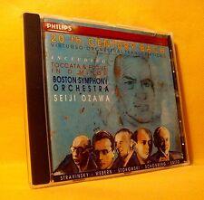 CD Bach Seiji Ozawa Boston Symphony Orchestra Toccata Fugue 10TR 1992 Classical