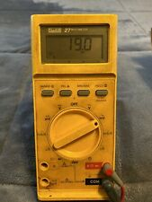 Fluke 27 Multimeter with Probe  leads And Box WORKING NEW BATTERY!!!!!!!