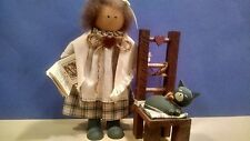 LIZZIE HIGH Doll Penelope High Settle in Her Favorite Chair to Read a Book 1987