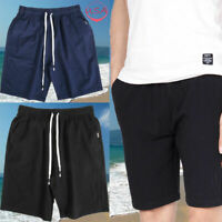Men Cotton Casual Solid Shorts Quick Dry Surfing Swimwear Summer Beach Pants New
