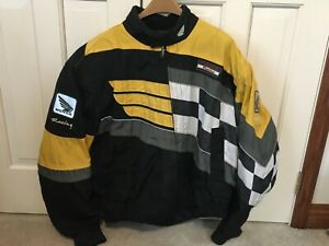 Honda Motorcycle Racing Jacket with Impact Protectors and Liner - Size 2XL