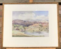 Wonderful Original Watercolour Of Blea Tarn, The Lake District By Joan Atkinson