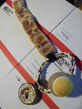 Wholesale Lot 7 Dog & Puppy Pull Rope Tennis Ball & Tan/Yellow Giraffe Tail