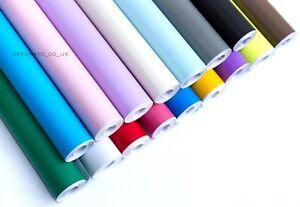 Sticky Back Plastic Wallpaper Sticker PVC Film Fablon Home Decor Self Adhesive