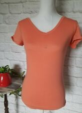 Active Basic women size medium orange pullover gym t shirt FLAWED
