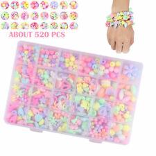 Full Set Bracelet Diy Kit Colorful 520pcs Beads Jewelry Making Children's Gift