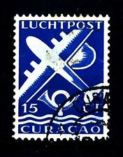 NETHERLANDS ANTILLES CURACAO - ANTILLE OLANDESI - PA - 1947 - Airplane and posth