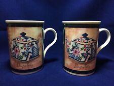 Crown Trent Fine Bone China Tea Cup Coffee Mug Set of 2 Cups