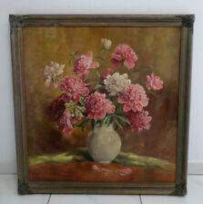 Gemälde signiert F. Tischendorf Braunsdorf Kahla Stilleben Blumenstrauß gerahmt
