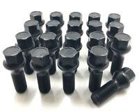 20 X ALLOY WHEEL BOLTS BLACK  VW TRANSPORTER T5 / T6 M14 X 1.5 NUTS LUG STUD [8]