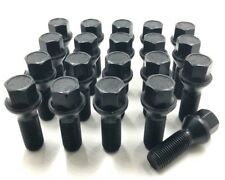 20 X ALLOY WHEEL BOLTS BLACK  VW TRANSPORTER T5 / T6 M14 X 1.5,NUT,LUG,STUD [8]