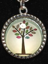 """Tree of Life Winter Foliage Charm Tibetan Silver with 18"""" Necklace A27"""