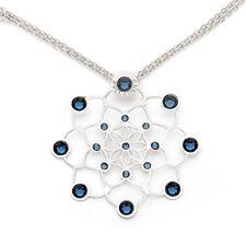 Boccadamo girocollo collana in argento rodiato e cristalli Swarovski blu Atena