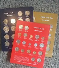 """First International Coin Issue """"Food for All"""" FAO Money Panels #1, #2, and #3"""