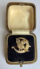 Crescent Pearl Ring Circa 1800's A Lovely Novelty Bird & Moon