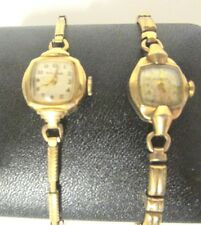 VINTAGE BULOVA WOMENS WATCH ART DECO 10K GOLD FILLED STRETCH BAND C349586 787336