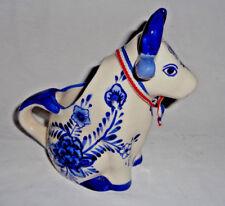 Blue and White Milk Jug Creamer Dutch Cow ceramic Holland