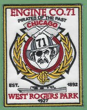 CHICAGO FIRE DEPARTMENT ENGINE COMPANY 71 PATCH PIRATES
