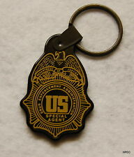 US DEA Agent Badge black rubber key ring  FEDERAL POLICE