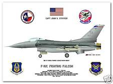 F-16C Fighting Falcon, 475thFS, 301stFW aircraft print