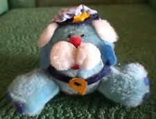 Vintage 1979 Dan Dee Imports Nut Shell Plush Toy Animal, Police? Blue, Hat ,Belt