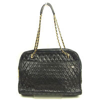 Bally Shoulder bag Black Gold Woman Authentic Used Y6428