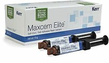 Dental Kerr Maxcem Elite Clear Refill Kit-2 Syringe Self-Etch !!
