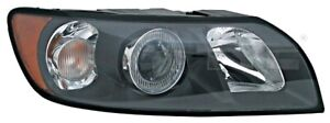 TYC Headlight Left Black For VOLVO S40 II V50 30678516