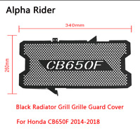 Black Motorcycle Radiator Grill Grille Guard Cover For Honda CB650F 2014-2018