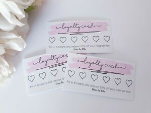Business loyalty cards 40 pack personalised craft stall reward thank you logo