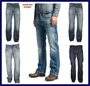 Jeans Meltin pot da uomo regular morgan a zampa svasati fondo largo dritti w31