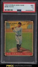 1933 Goudey World Wide Gum Babe Ruth #80 PSA 3 VG