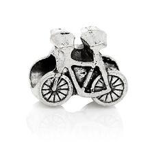 Bike Bicycle Outdoor Activities Racing Charm fits Silver European Bead Bracelets