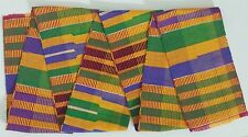 "4.5x60"" African Kente Cloth Stole Scarf, From Ghana, Multicolor, Graduation"