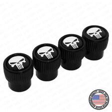 Punisher Skull Logo Roundel Car Wheels Tire Air Valve Caps Stem Dust Cover Sport