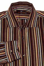ETRO Milano Men's Luxury Dress Shirt Burgundy multi color Striped Size 40 Italy