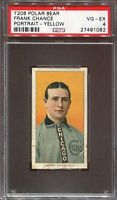 1911 T206 Frank Chance Portrait Chicago Cubs HOF PSA 4 **Polar Bear** CENTERED