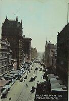.MELBOURNE ELIZABETH STREET VICTORIA 1910 POSTCARD.