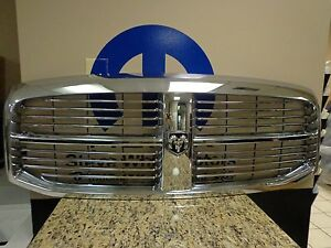 06-09 Dodge Ram 1500 2500 3500 08-09 4500 5500 New Front Grille Chrome Mopar OEM