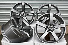 "ALLOY WHEELS 20"" CRUIZE BLADE GM GUNMETAL DEEP CONCAVE 5 SPOKE 5X112 20 INCH"