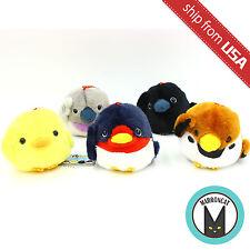 "Genuine 3.6"" Kotori Tai Pipitto Amuse Fluffy Bird Plush Ball Chain Kawaii Cute"