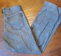 Men's ROCK & REPUBLIC Neil Gray textured Straight Leg Stretch Jeans 34X35! EUC!