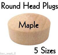 "ROUND HEAD MAPLE SCREW HOLE PLUG ~ 1/4"" ~ 3/8"" ~ 1/2"" ~ 3/4"" ~ 1""  Dia. ~ by PLD"