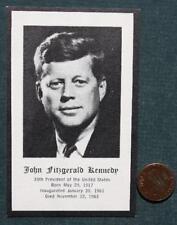 President John F.Kennedy ORIGINAL Death-Funeral Mourning card-UNCOMMON JFK item!