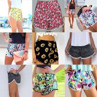 Swimming Summer Ladies Girl Floral Flower Print Beach Board  Hot Pants Shorts