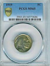 1919 Buffalo Nickel : PCGS MS65