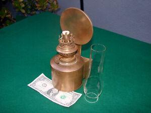 Antique BRASS SHIPS CABIN LAMP-12 Photos-BRENNER KOSMOS BURNER-HANDSOME-L@@K !!