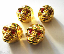 NEW 4 KNOBS METAL SKULL gold - bouton pour guitare